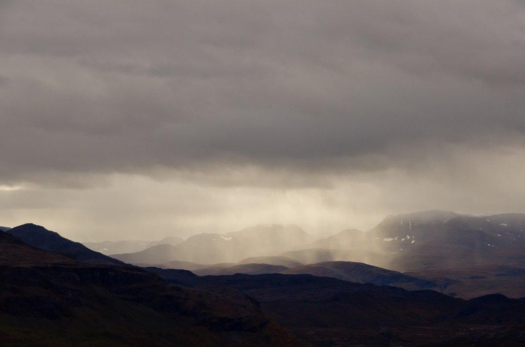 Rain and sun over Storslett